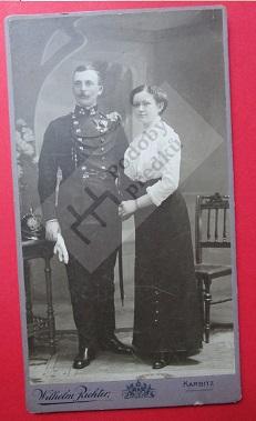 Josef Josel, strážmistr, se ženou